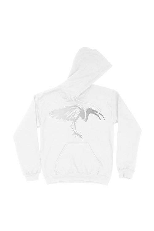 Silver Ibis White Pullover Hood by DMA'S