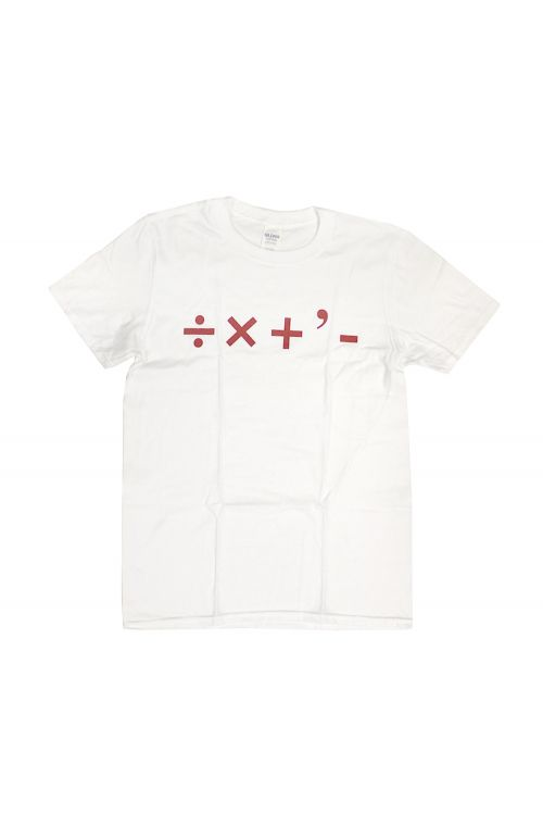 Division, Multiplication, Addition, Subtraction White Tshirt by DMA'S
