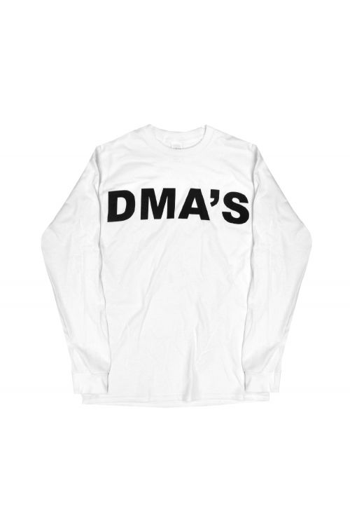 White Long Sleeve Shirt Album Font by DMA'S