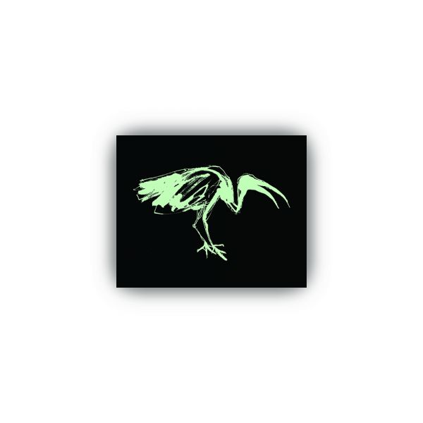 Glow in the dark Ibis Sticker