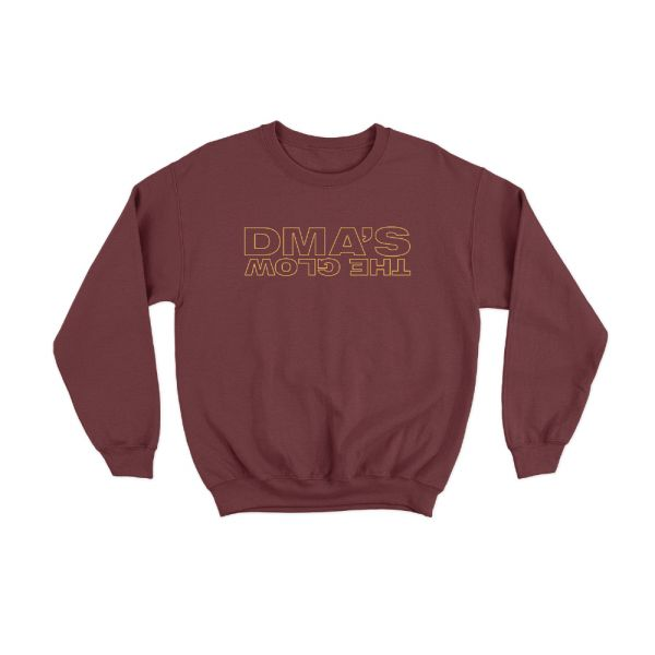 Backwards The Glow Maroon Crewneck