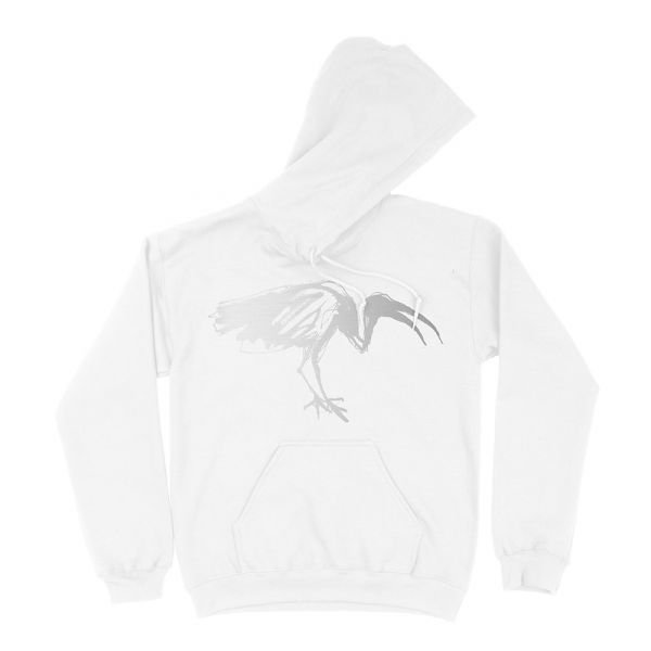 Silver Ibis White Pullover Hood